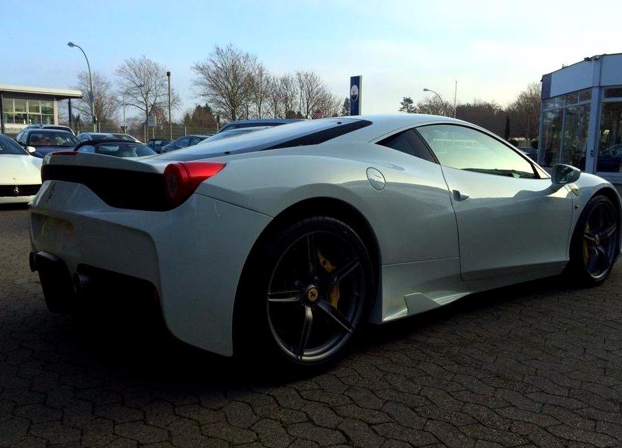 White Ferrari 458 Specialewww.DiscoverLavish.com