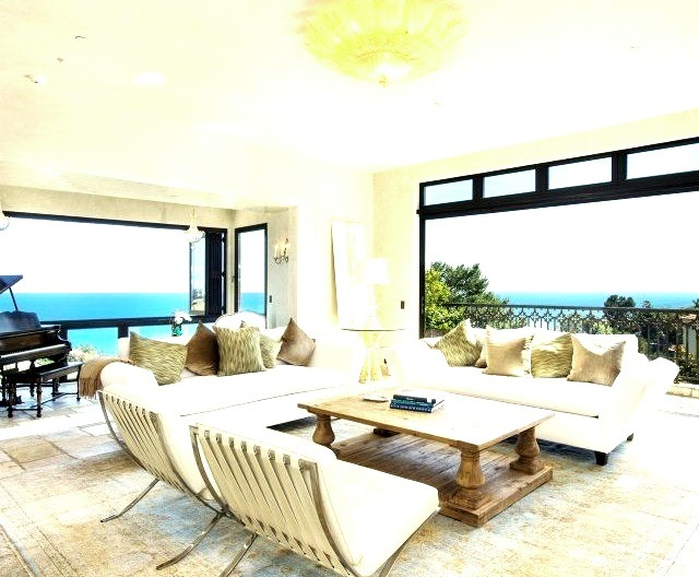 Beautiful Living Room with Beachfront View