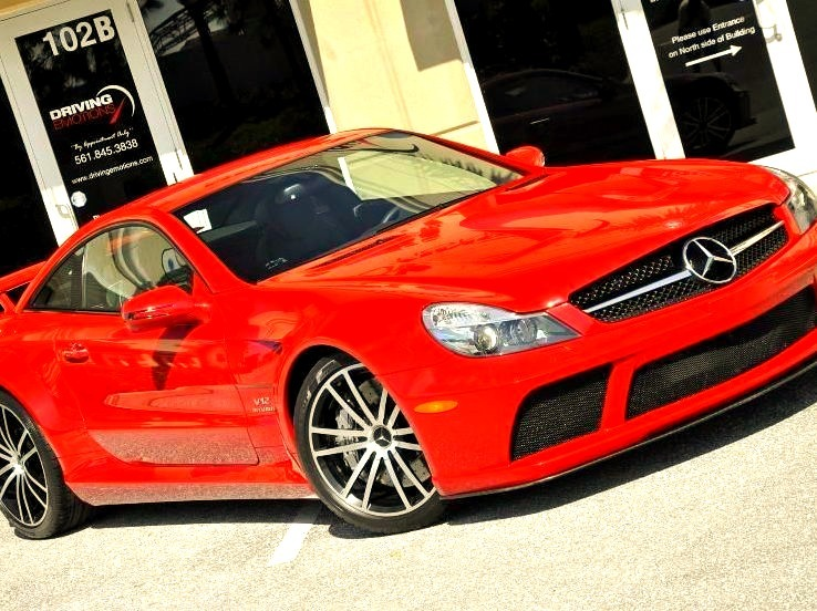 Red Mercedes AMG Coupe
