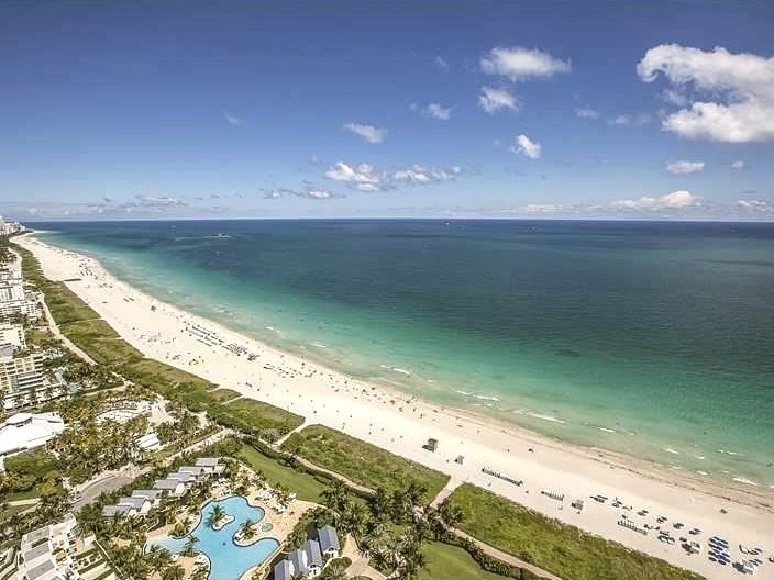Helicopter View of Miami Beach